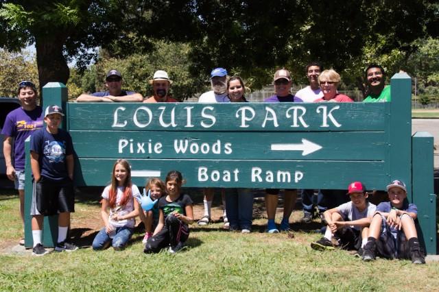 Louis Park entrance sign
